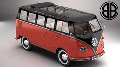 Volkswagen Type 2 Samba 3D Model - 3D Model