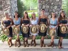 junior bridesmaids dresses with cowboy boots Cute Wedding Ideas, Trendy Wedding, Dream Wedding, Wedding Inspiration, Brown Bridesmaid Dresses, Wedding Dresses, Junior Bridesmaids, Reception Dresses, Dresses With Cowboy Boots