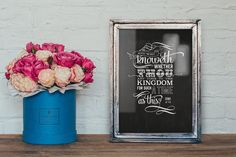 Esther Bible Verse Typography Chalkboard Poster - FREE U.S. Shipping!