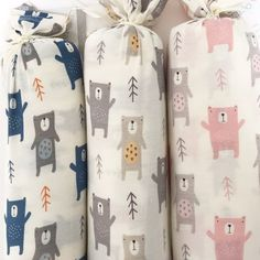 3 baby blankets arrived this morning from @_bestaroo_ featuring my bears  #babydesign #surfacepattern #babyblankets #bears #illustration