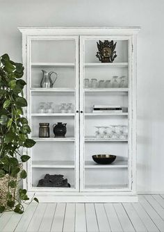 Large Rustic Glass Cabinet in Black or Cream (Sideboards & display cabinet) Luxury Furniture, Cabinet, Furniture, Glass Cabinet, Modern Storage Furniture, Home Accessories, Interior, Storage Furniture, Glass Furniture