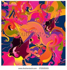 Abstract artistic Background of fluid and liquid paint colors  - stock vector