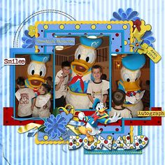 Disney scrapbook page Donald Duck