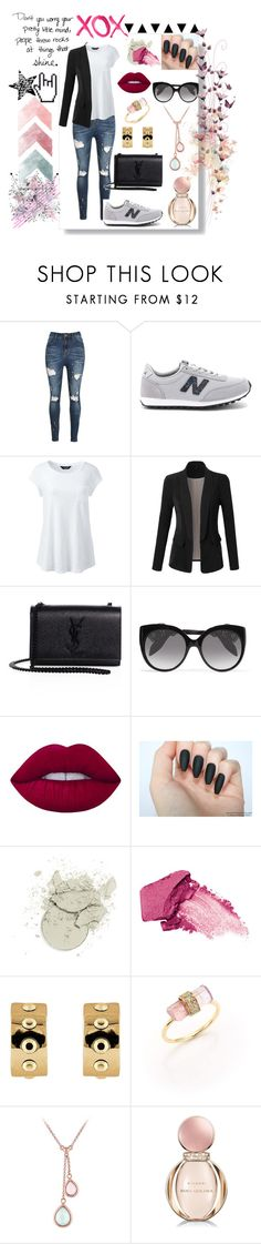 """""""xox"""" by aliceridler ❤ liked on Polyvore featuring Peace and Love by Calao, New Balance, Lands' End, LE3NO, Yves Saint Laurent, Alexander McQueen, Lime Crime, Urban Decay, Buckley and Jacquie Aiche"""