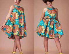 En vente Maxi Zena polonais coton robe / robe de Dashiki