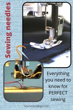 Everything you need to know about sewing machine needles including what the numbers and colors mean on the needle, how, when and why to replace the needle in your sewing machine, and the different types of sewing machine needle, and when you would use them. A complete sewing needle 101 list of questions answered for sewing beginners. Sewing Lessons, Sewing Hacks, Sewing Tips, Easy Sewing Patterns, Bag Patterns To Sew, What's The Number, Embroidery Needles, Simple Bags, Lessons For Kids