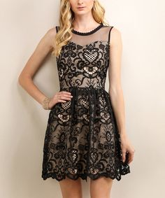 Look what I found on #zulily! Black Sleeveless Dress #zulilyfinds