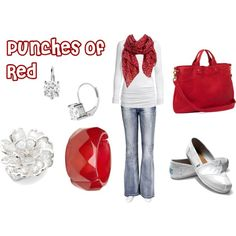 """""""Punches of Red"""" by agenesi on Polyvore"""