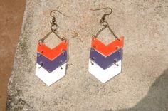 Auburn Tigers War Eagle - Chevron Earrings
