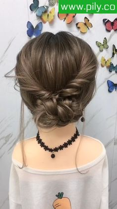Braided Hair Tutorial Bun Hairstyles For Long Hair, Braided Hairstyles, Short Hair Bun, Quick Hairstyles, Short Hair Styles Easy, Medium Hair Styles, Long Hair Video, Hair Videos, Hair Hacks