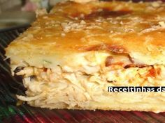 Receita Torta de frango cremosa