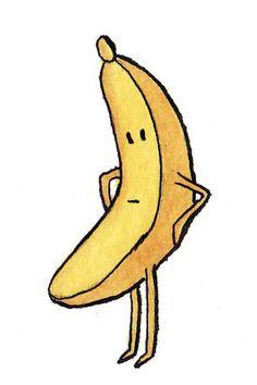 Grumpy Banana by Emily Trotter Illustration