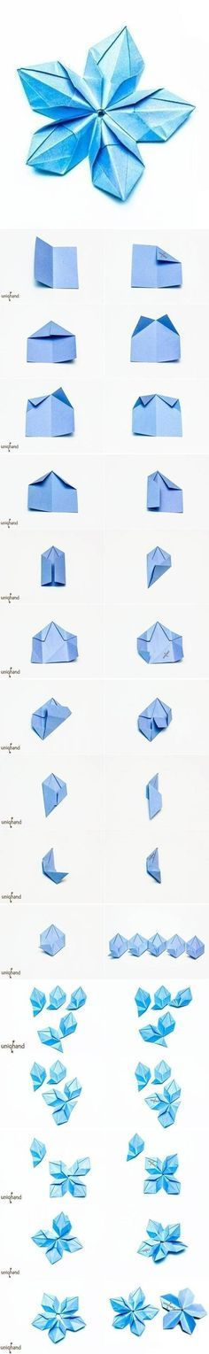 Origami Modular Rose Mandala. Photo diagrams.