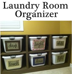 Love this laundry organizer! And I love how its so easy for kids because of the fabric surrounding the words.