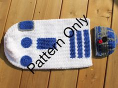 R2D2 Star Wars Cocoon with Hat Crochet Pattern, Star Wars Photo Prop, Newborn Costume, Baby Bunting, Star Wars, R2D2 Robot by JuneBugsCrochets on Etsy