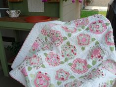 French Rose Quilt Pattern.