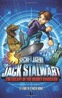 Secret Agent Jack Stalwart Book 1: The Escape of the Deadly Dinosaur by Elizabeth Singer Hunt, http://www.amazon.com/dp/1602860041/ref=cm_sw_r_pi_dp_7-V8sb1271QZB
