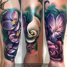"""In joy or sadness flowers are our constant friends."" - Charles Huurman (tattoo artist)"