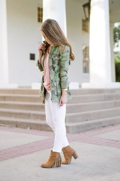 Camo Utility Jacket and Tory Burch Crossbody Bag | Fall Fashion Tips | Fall Style Ideas | How to Style a Camo Utility Jacket | Tory Burch Style Ideas | Styling a Crossbody Bag || A Lonestar State of Southern