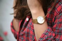 plaid and gold for fall