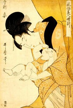 Mother and Child - Utamaro