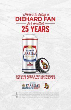 Ottawa Senators Molson Canadian ad Ottawa, Nhl