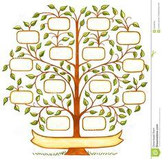 Árvore Genealógica Handpainted Ilustração Stock - Imagem: 45538183