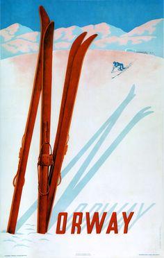 Norway #Vintage #travel #poster