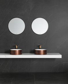Baño exclusivo con el porcelánico de gran formato XLIGHT Premium SAVAGE Dark - URBATEK PORCELANOSA - stoneware precious marble #archiproducts