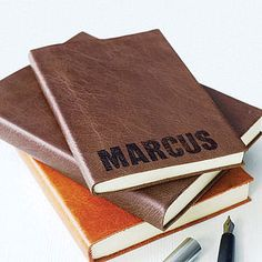 Personalised Leather Bound Notebook - gifts for him