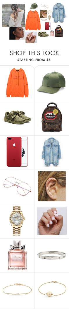 """""""Untitled #599"""" by hsv009 ❤ liked on Polyvore featuring Mudd, Puma, Louis Vuitton, LE3NO, Rolex, SoGloss, Christian Dior, Cartier, Tate and David Yurman"""