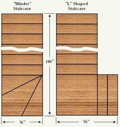 Amazing of Winder Stairs Design How To Make Or Build A Winder Shaped Staircase Free Stair Open Stairs, Loft Stairs, Deck Stairs, Basement Stairs, Wooden Staircases, Stairways, Stairs Measurements, L Shaped Stairs, Stair Dimensions