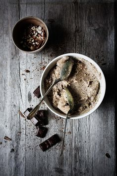 Banana Ice-Cream with Chocolate Shaves