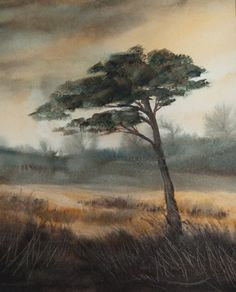 Watercolor - Lone Cyprus