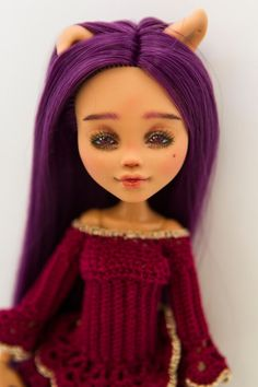 Monster hohe Ooak repaint reroot Custom handgemachte | Etsy Custom Monster High Dolls, Monster High Repaint, Blythe Dolls, Barbie Dolls, Handmade Art, Handmade Dolls, Dead Gorgeous, Beautiful, Handmade Clothes