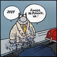 Le chat geluck artist art bande dessinée pollock - Geluck