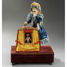 "Rare ""Magic Theatre"" Musical Automaton by Renou, c"