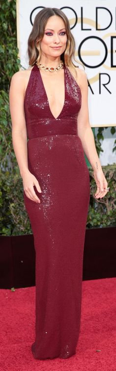Olivia Wilde at the Golden Globes (Photo: Monica Almeida/The New York Times)