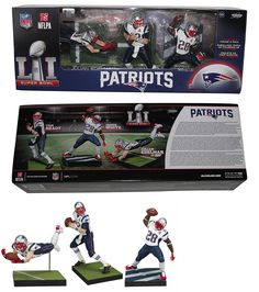 Sports 754: Nfl New England Patriots Championship Action Figure 3-Pack -> BUY IT NOW ONLY: $54.95 on eBay!