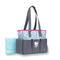 Hello Kitty Toss Print 6-Pocket Tote Diaper Bag - Grey df21db997e7ab
