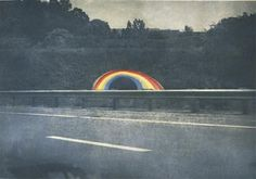 Peter Doig - Rainbow Tunnel, on the DVP in Toronto.