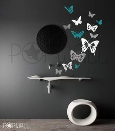 Butterfly wall mural!
