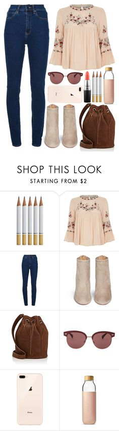 """""""(7)"""" by kidrauhlftbizzle ❤ liked on Polyvore featuring River Island, Wood Wood, Aquazzura, Jérôme Dreyfuss, Oliver Peoples, Soma and MAC Cosmetics"""