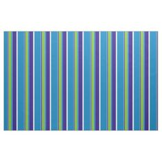 Purple White Lime Green Azure Blue Stripes Pattern Fabric - chic design idea diy elegant beautiful stylish modern exclusive trendy