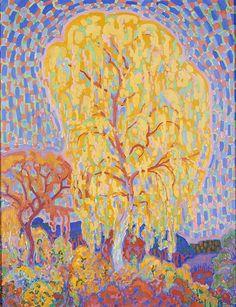 Leo Gestel (1881-1941) Herfst, 1911 Olieverf op doek 113,5 x 96,2 cm Gemeentemuseum Den Haag. #KleurOntketend