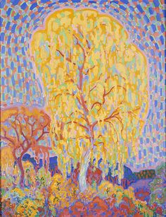 Herfstboom (Autumn Tree), 1911 by Leo Gestel on Curiator, the world's biggest collaborative art collection. Art Deco Paris, Modern Art, Contemporary Art, Piet Mondrian, Dutch Painters, Post Impressionism, Dutch Artists, Art Moderne, Autumn Trees