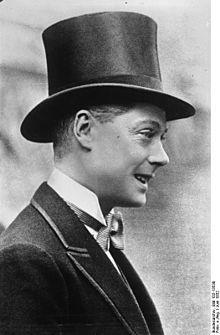 King Edward VIII, who abdicated to marry Wallis Simpson.