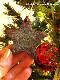 Sun Scholars: Glittered Cinnamon Ornaments