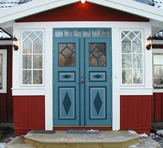 Våla Specialsnickeri - Referenser Style At Home, Glass Porch, Sweden House, Red Houses, House Trim, Old Cottage, A Frame House, Old Doors, Exterior Doors