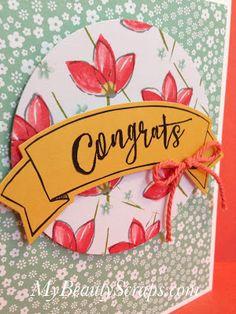 BeautyScraps: Stampin' Up! My Paper Pumpkin Blissful Bouquet October 2015 Kit - Alternate Card Idea